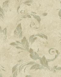 Edith Green Acanthus Brushstroke Wallpaper by