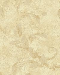 Edith Gold Acanthus Brushstroke Wallpaper by