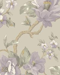 Berkin Grey Large Floral Vine Wallpaper by