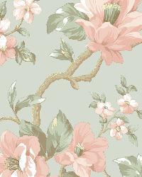 Berkin Blue Large Floral Vine Wallpaper by
