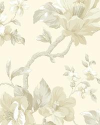 Berkin Rose Large Floral Vine Wallpaper by