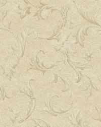 Vlad Beige Acanthus Vine Wallpaper by