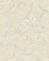 Vlad Blue Acanthus Vine Wallpaper by