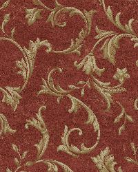 Vlad Red Acanthus Vine Wallpaper by