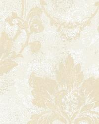 Irena Light Blue Delicate Damask Wallpaper by
