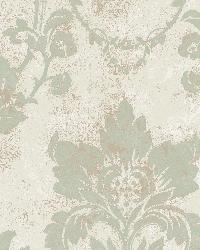 Irena Storm Delicate Damask Wallpaper by
