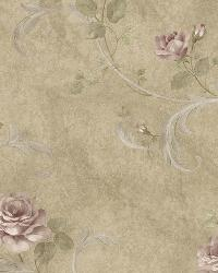 Gracie Sage Floral Scroll Wallpaper by