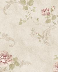 Gracie Stone Floral Scroll Wallpaper by