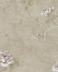 Gracie Metal Floral Scroll Wallpaper by