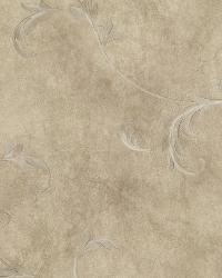 Gracie Bronze Scroll Wallpaper by