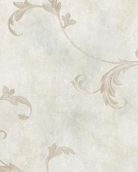 Gracie Blue Scroll Wallpaper by