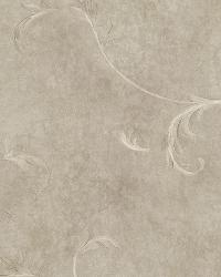 Gracie Metal Scroll Wallpaper by