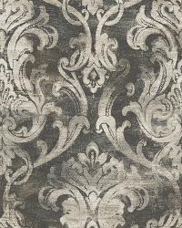 Elsa Black Ornate Damask Wallpaper by