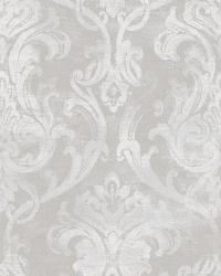 Elsa Blue Ornate Damask Wallpaper by