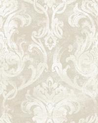 Elsa Silver Ornate Damask Wallpaper by
