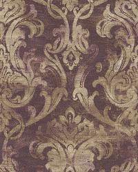 Elsa Blackberry Ornate Damask Wallpaper by