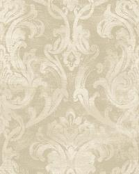 Elsa Wheat Ornate Damask Wallpaper by