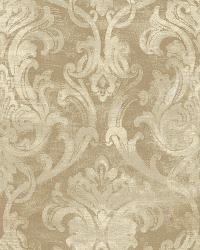 Elsa Bronze Ornate Damask Wallpaper by