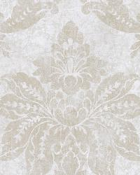 Giles Blue Patina Damask Wallpaper by
