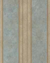 Giovanni Blue Tuscan Alternating Stripe Wallpaper by