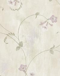 Shiva Silver Trumpet Floral Vine Wallpaper by