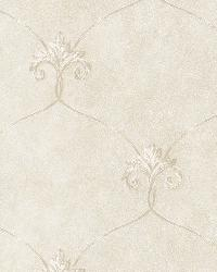 Tuscan Grey Shimmering Ogee Wallpaper by