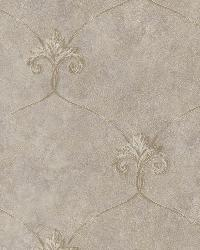 Tuscan Bronze Shimmering Ogee Wallpaper by