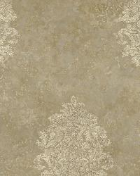 Brown Baroque Damask by