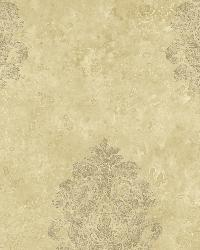Beige Baroque Damask by
