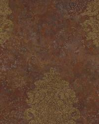 Orange Baroque Damask by