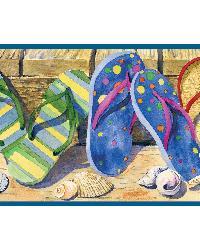 Gabby Sand Beach Sandals Portrait Border by