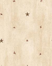 Marge Wheat Star Sprigs Toss Wallpaper by  Brewster Wallcovering