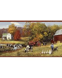 Herman Green Cow Pasture Portrait Border by