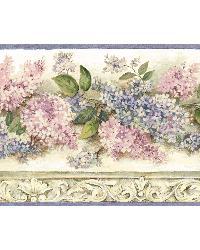 Ethel Cream Heirloom Lilacs Trail Border by