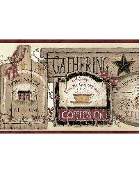 Alfred Red Gathering Room Signs Border by