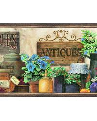 March� Green Antique Herbs Portrait Border by
