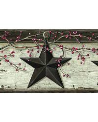 Graham Cream Rustic Star Trail Border by