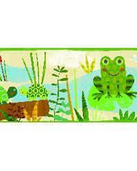 Kermis Cream Frog Marsh Toss Border by