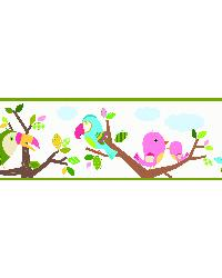 Island Beat Green Forest Friends Scroll Border by