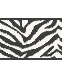 Mia Black Faux Zebra Stripes Border by