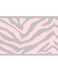 Mia Pink Faux Zebra Stripes Border by