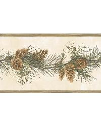 Fleming Cream Pine Boughs Trail Border by