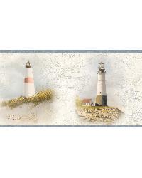 Arya White Lighthouse Coast Border by