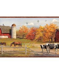 Jonny Red American Farmer Portrait Border by