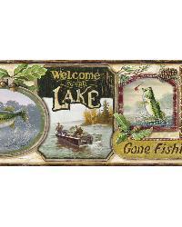 Skippy Cream Fishing Signs Portrait Border by