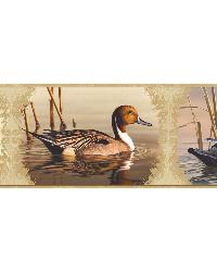 Winning Cream Waterfowl Portrait Blocks Border by
