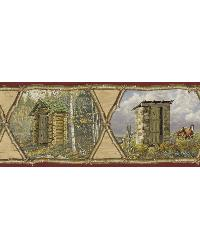 Augustus Red Privy Collection Portrait Border by