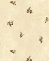 Welsh Wheat Pinecone Toss Wallpaper by  Brewster Wallcovering