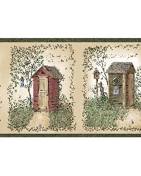 Fennel Wheat Outhouse Portrait Blocks Border by