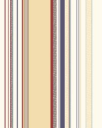 Charles Cream Lookout Stripe Wallpaper by  Brewster Wallcovering